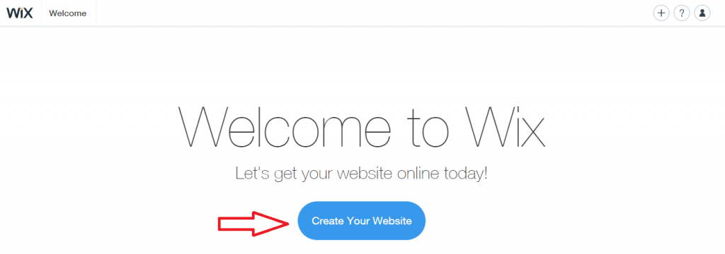 "Click on ""Create Your Website"" to get started!"