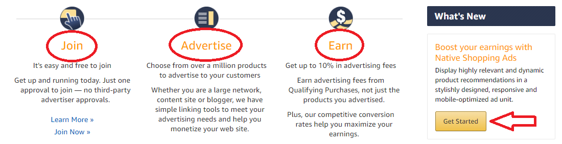 Joining affiliate programs takes just minutes!