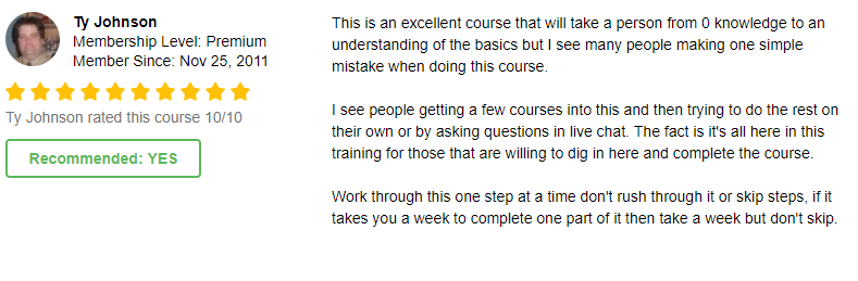 Ty course review