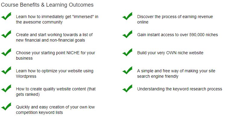 Course benefits and and learning outcomes